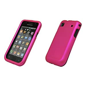 Samsung Galaxy S i9000 - Premium Hot Pink Rubberized Snap-On Cover Hard Case Cell Phone