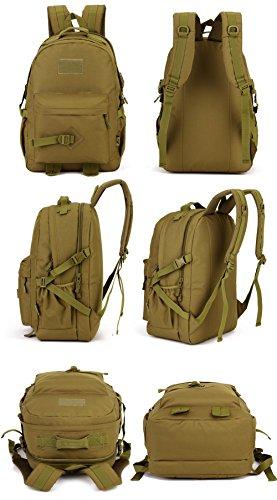 Imagen de huntvp  asalto  táctical  militar gran bolsa de hombro impermeable 40l para las actividades aire libre senderismo caza viajar color negro marrón alternativa