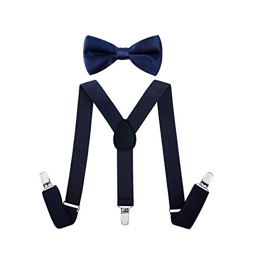 FORLADY Children Kids Braces Bow Tie Straps For Boys&Girls Bow Tie Strap Suit Baby Hanger Clips Braces For Kids Boys Girls Baby Boy Bow Tie