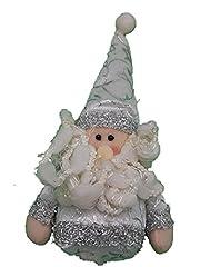Idea Regalo - Appendino babbo natale peluche bianco per decorazioni natalizie addobbi misura 14 cm confezione 1 pezzo