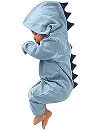 Malloom para Unisex bebé Niñas Niños Recién Nacido bebé niño niña Dinosaurio con Capucha Mameluco Mono Trajes Ropa Conjuntos