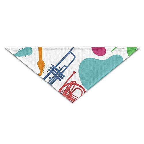 Gxdchfj Pet Triangle Bandana Musical Instruments Clip Arts Washable Dog Puppy Scarf Bib Babys Neckerchief ()
