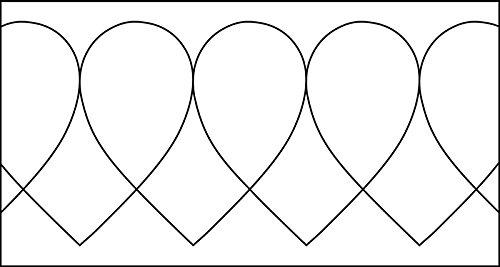isew Quilt-Lineal ''Herz klein'' Plexiglas 5 mm/Muster 6x6,4 cm/Lineal 11,5x15 cm -