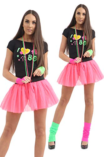 Crazy Chick® Neon I Love the 80s Tutu Party Set -