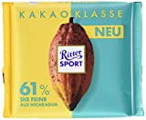 RITTER SPORT Kakao-Klasse: Die Feine 61% aus Nicaragua (12 x 100 g), Edel-Bitterschokolade mit 100% zertifiziertem Kakao aus Nicaragua, besondere Schokolade, Kakaogehalt: mind. 61%
