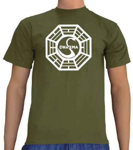 touchlines-mens-t-shirt-green-khaki-m