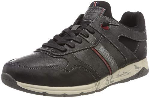 Mustang Herren Schnürhalbschuh Sneaker Grau (Stein 200) 41 EU