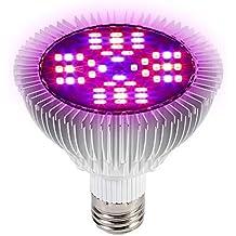 Lampara de Cultivo Grow Light LED, 48W E27 Panel de alta potencia Full Spectrum LED