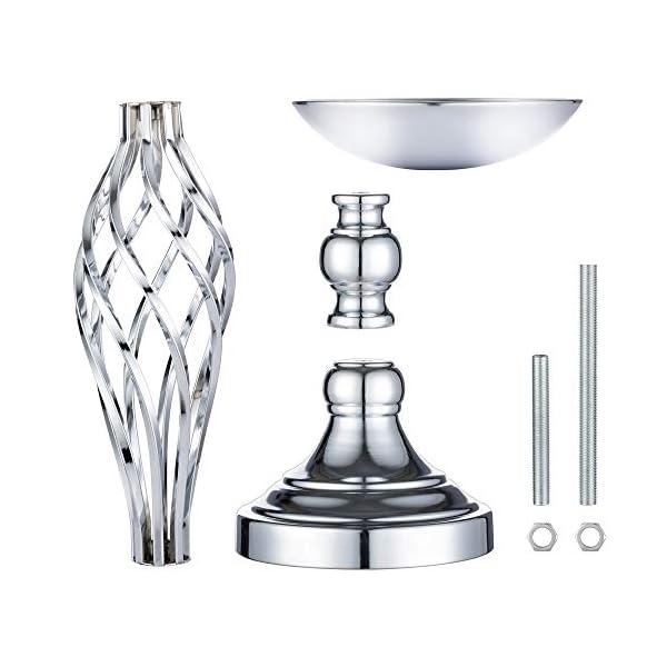 Juego De 2 Portavelas Versátiles De Metal con Diseño De Flores, para Bodas, Fiestas, Mesas, Eventos, Restaurantes…