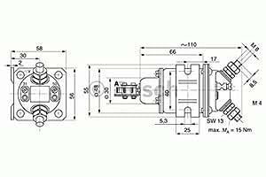 Bosch 0333006007Puissance relais de commutation