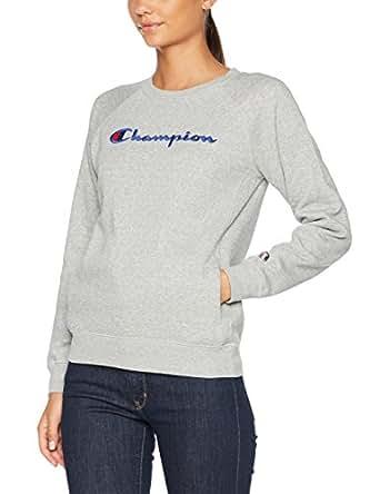 Champion Damen Sweatshirt Crewneck Institutionals, Grau (Oxgm), Small
