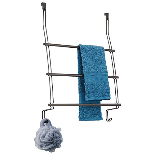 InterDesign 69111EU Classico Handtuchhalter zum Hängen über die Duschtür, bronzefarben