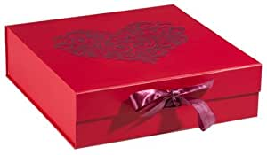 Think Posh Red/Red Flock Keepsake Gift Box, LARGE