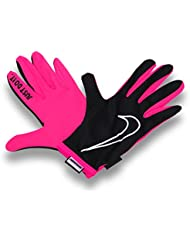 Womens Rally Gloves - Black/Pink