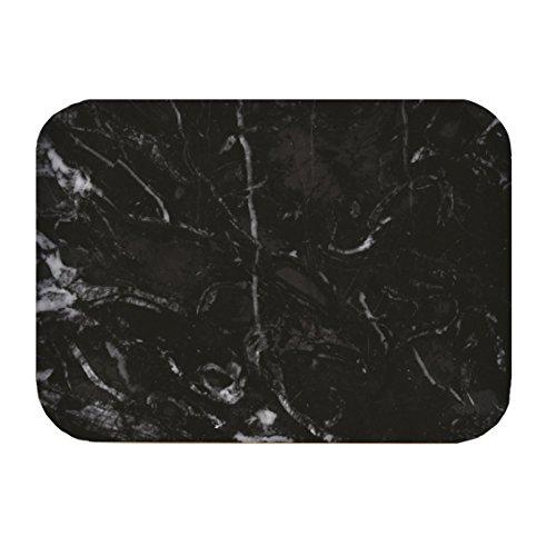 ZAK Osmos Teetablett schwarz Marmor/Weiß 28x20cm
