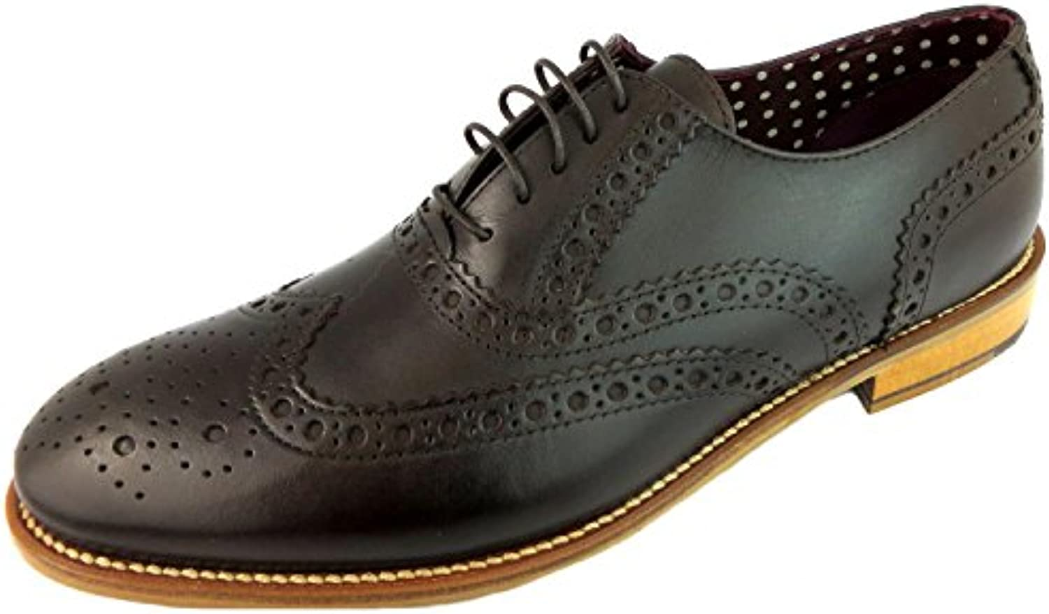 London Brogues Gatsby Brogue Schuhe Dunkelbraun