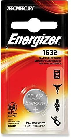 2 X Energizer Cr1632 3V Lthium Coin Cell Battery Dl1632 Car Keys Van Key Fob