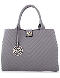 éléspry Grey PU Bag With Adjustable Straps(JG-11807-GY)