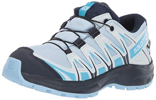 Salomon Kinder XA Pro 3D CSWP J, Trailrunning-Schuhe, Wasserdicht, Blau (Cashmere Blue/Illusion Blue/Cyan Blue), Größe 34