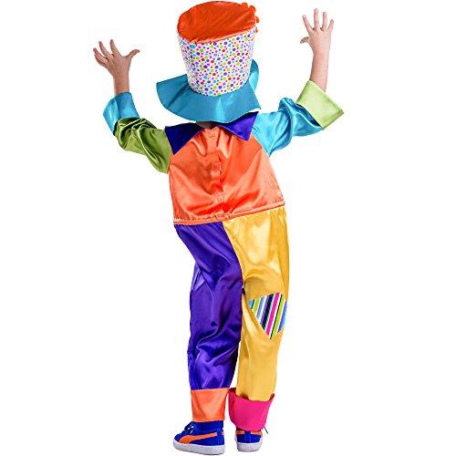 Imagen de dress up america  disfraz de payaso de circo para niños, multicolor, talla xxs, 2 años 851 t2  alternativa