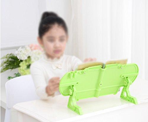 Estantería de lectura Estantería de libros 40 * 20 Cm Marco de lectura Niño Estudiantes de primaria Telescópico Verde ( Color : Verde )