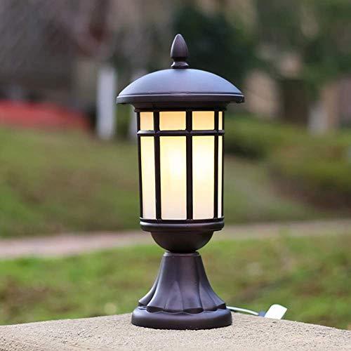 LED-BEAU Kolumne Lampen Außenhof-Säule Lampen Lampen Wasserdicht Tisch Lamping Lamping,Braun,17x38cm -