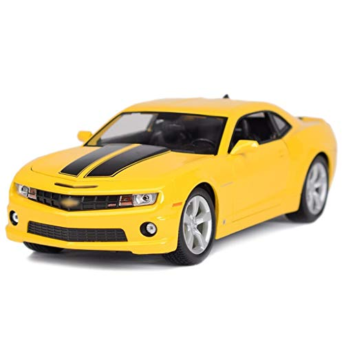 SXET-Auto modello Modello di Die Casting Modello di Auto Sportiva Modello di Auto in Lega Modello 1:18 Modello Decorazione Auto Decorazione (Colore : Giallo)
