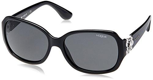 VOUGE Damen Sonnenbrille 0VO5155S W44/87, Schwarz (Black/Grey), 55