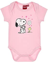 Snoopy Babies Girls Baby body - pink