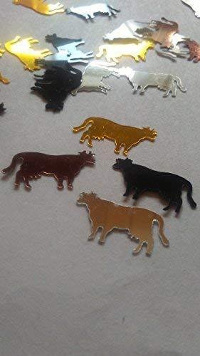 80 Stück Konfetti-Tiere Kühe mit Eutern bunt Mix Streudeko für bestimmte Veranstaltungen, Anlässe etc. - Kuh-magnet