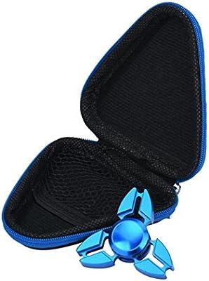 Transer® Regalo para Fidget mano spinner triángulo dedo foco de juguete ADHD autismo bolsa caja carry case paquete