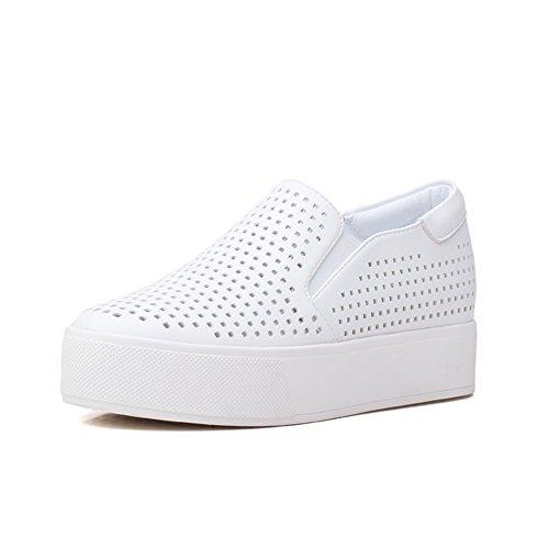 La version coréenne de Le Fu/Chaussures plates/ chaussures avec des semelles épaisses/Petites chaussures blanches A