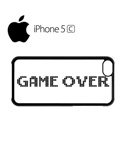 Game Over The End 8 Bit Retro Mobile Cell Phone Case Cover iPhone 5c Black Weiß