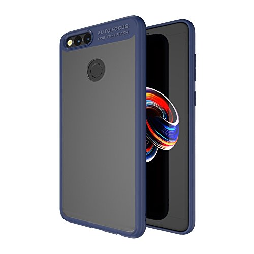 7x Acryl (Huawei Honor 7X Hülle, WindCase Lightweight Hybrid Crystal Klar Transparent Acryl Rückschale und TPU Bumper Schutzhülle für Huawei Honor 7X Blau)