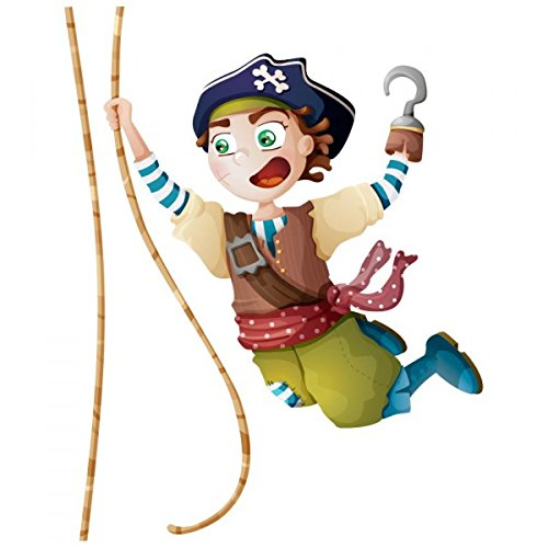 Sticker pirate : Capitaine Sam - Format : 42 x 55 cm