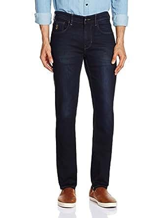 US Polo Men's Skinny Fit Jeans (8907378377739_USJN0986_40W x 34L_Blue)