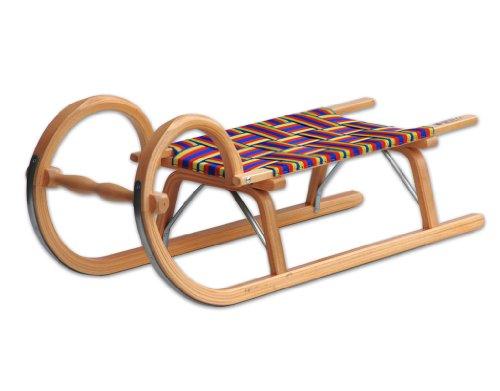 Ress Gebirgsrodel 100 cm Gurtsitz, natur lackiert, Qualität Made in Germany