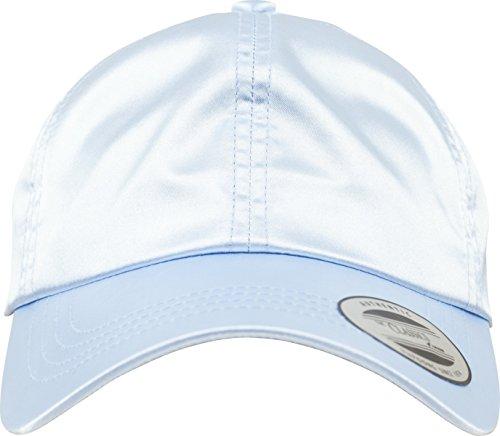 Flexfit Low Profile Satin Cap Unisex Kappe für Damen und Herren aus glänzendem Satin Stoff babyblue