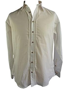 Country Maddox Herren Trachtenhemd Weiß