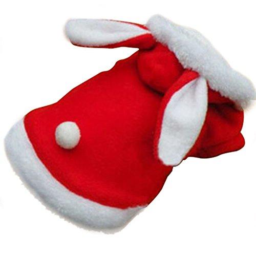 Lang-ohrige Kaninchenform Pet Verklärung Haustier Hunde Kleidung Bekleidung Kostüm XS/S/M/L/XL pink/rot/blau