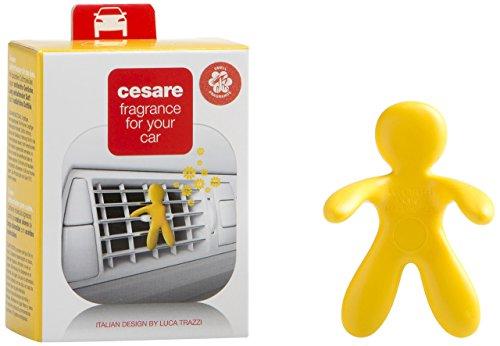 Mr & Mrs 004 Cesare - Muñeco ambientador para coche (aroma vainilla), color amarillo