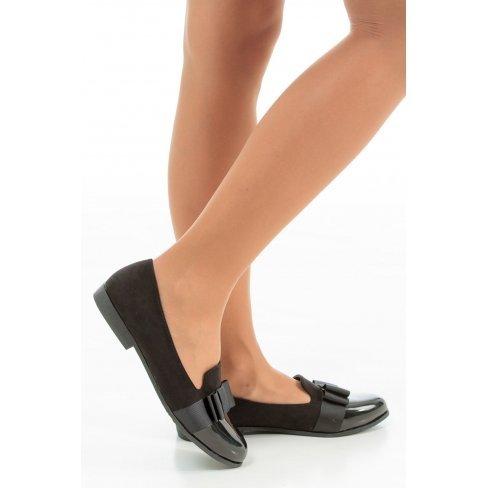 Princesse boutique - Mocassins noir avec un noeud
