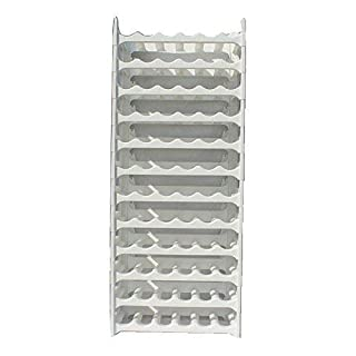 ARTECSIS Expandable Modular Wine Rack Stand Holder Plastic for 72 Bottles Grey-White