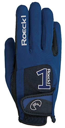 Roeckl Sports Handschuh Modell Mansfield, Unisex Reithandschuh, Marine, 8,5