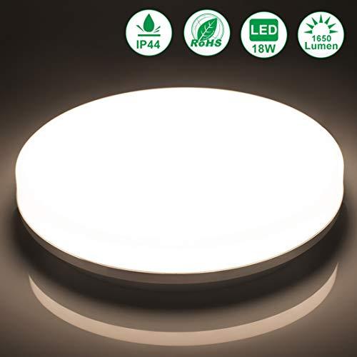 Preisvergleich Produktbild LED Deckenlampe Badezimmer 18W Neutralweiß Airand LED Leuchte IP44 Badezimmer Lampe Wasserfest Deckenleuchte für Flur Bad Küche Wohnzimmer Schlafzimmer Balkon,  4000K, 1650LM