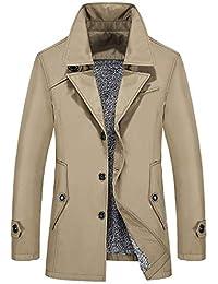 Betrothales Capa Hombres Trench Chaquetas Jacket Chaqueta Chaquetones Invierno Parka Hombres con Cálido Abrigo Piel Sintética