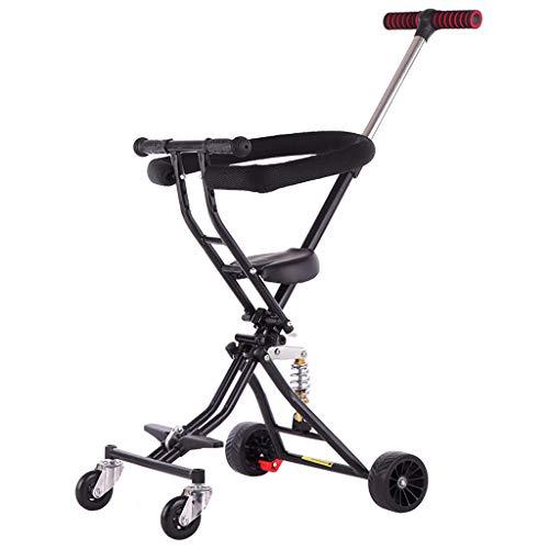PIGE Kinderwagen - Faltbarer Kinderaußenwagen, Doppelbremssystem, Flexible Lenkrollen, höhenverstellbar.