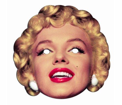 Zubehör Kostüm Marilyn Monroe - Star Cutouts Bedruckte Gesichtsmaske von Marilyn Monroe