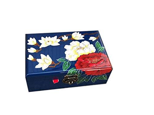 Wooden fish Chinesische Schmuckschatulle,Lack Ware Box Push leichte Lack Geschirr Geschenk Box Lack Handwerk chinesische Aufbewahrungsbox,Chinesische Hochzeit Aufbewahrungsbox -