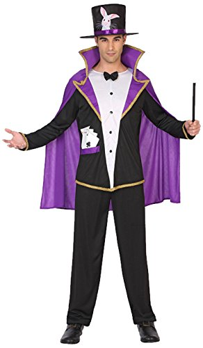 Kostüm Herren Zauberer - ATOSA 38661 Zauberer Kostüm, Herren, mehrfarbig, XL